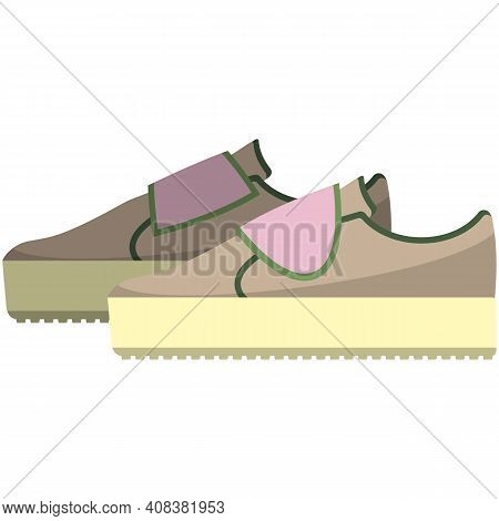 Baby Shoe Footwear Vector Isolated On White Background