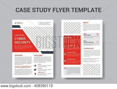 Case Study Flyer Design Template Vector File