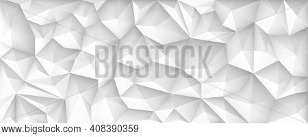 Polygon Abstract Polygonal Geometric Triangle Background, Vector Illustration Wide