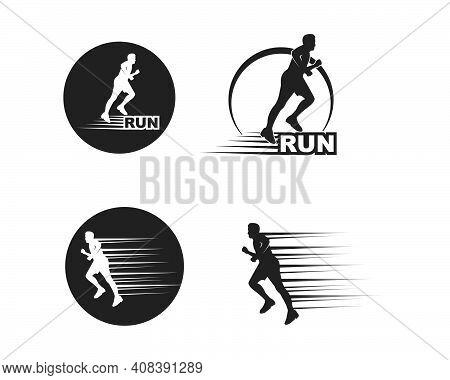 Running Man Icon Vector Illustration Design