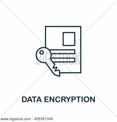 Data Encryption Icon. Simple Element From Internet Security Collection. Creative Data Encryption Ico
