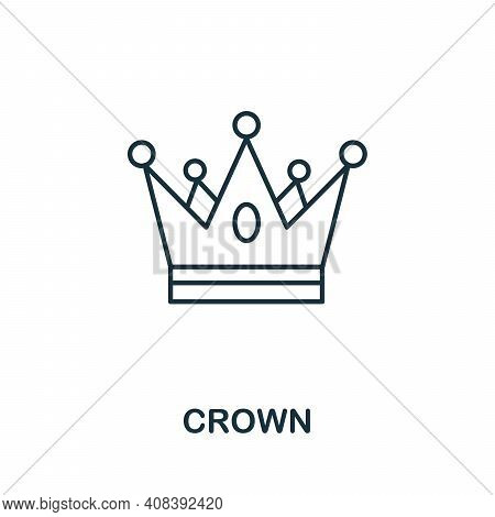 Crown Icon. Simple Element From Jewelery Collection. Creative Crown Icon For Web Design, Templates,
