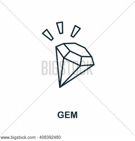 Gem Icon. Simple Element From Jewelery Collection. Creative Gem Icon For Web Design, Templates, Info