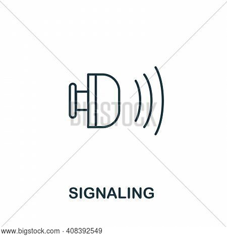 Signaling Icon. Simple Element From Jewelery Collection. Creative Signaling Icon For Web Design, Tem