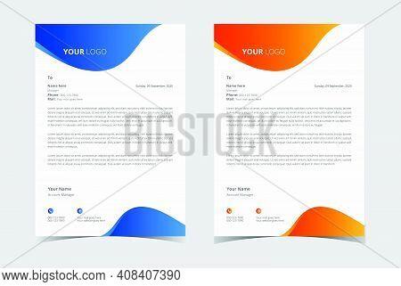 Corporate Business Letterhead Template. Modern Letterhead Template.
