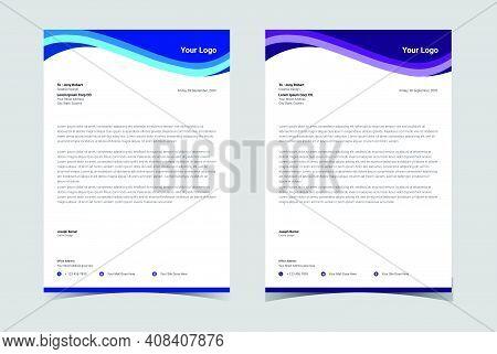 Professional Letterhead Template. Minimalist Letterhead Template. Corporate Letterhead.