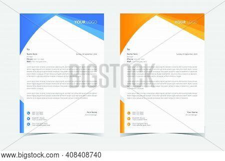 Letterhead Template Vector, Minimalist Style, Printing Design, Business Template