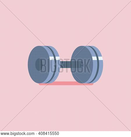 Weight Barbell Vector Icon. Weight Training Equipment. Vector Illustration