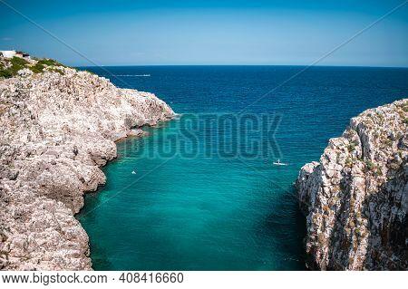 Fantastic View On Ciolo Sea In Puglia