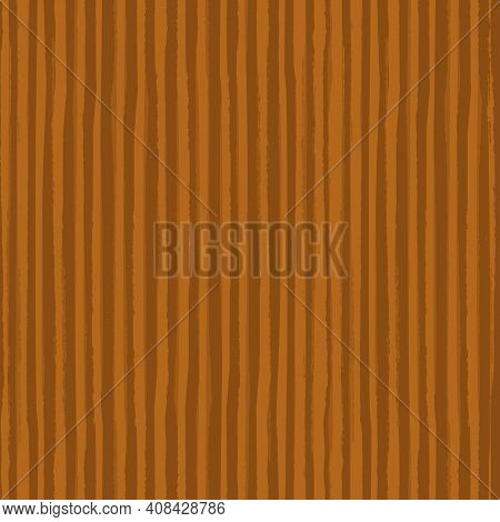 Painterly Ochre Stripe Vector Seamless Pattern Background. Overlapping Brush Stroke Style Striped Mo