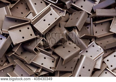 Sheet Metal Product After Processing On A Bending Machine. Precise Bending Of Metal Product