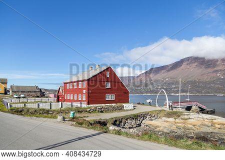 Qeqertarsuaq, Greenland - July 3, 2018: Exterior View Of Qeqertarsuaq Museum