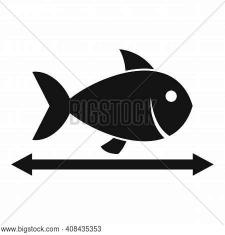 Lenght River Fish Icon. Simple Illustration Of Lenght River Fish Vector Icon For Web Design Isolated