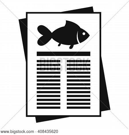 Fish Paper Description Icon. Simple Illustration Of Fish Paper Description Vector Icon For Web Desig