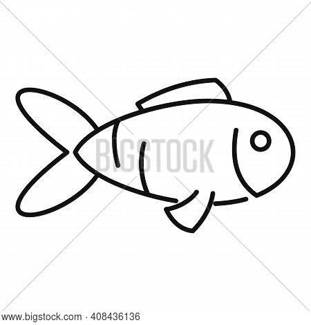 Exotic Fish Icon. Outline Exotic Fish Vector Icon For Web Design Isolated On White Background