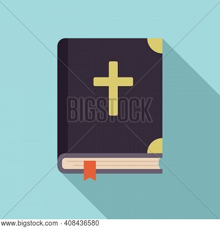 Holy Bible Icon. Flat Illustration Of Holy Bible Vector Icon For Web Design