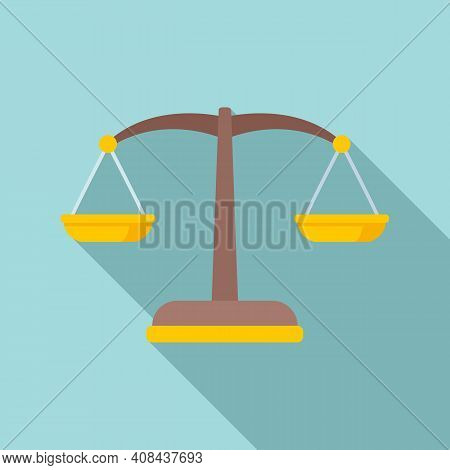 Judge Balance Icon. Flat Illustration Of Judge Balance Vector Icon For Web Design