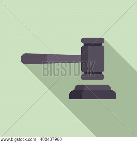 Judge Gavel Icon. Flat Illustration Of Judge Gavel Vector Icon For Web Design