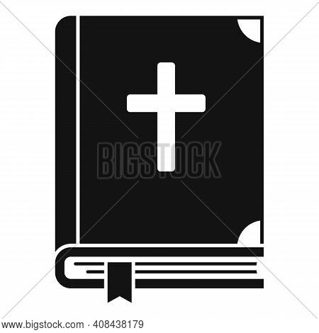 Holy Bible Icon. Simple Illustration Of Holy Bible Vector Icon For Web Design Isolated On White Back