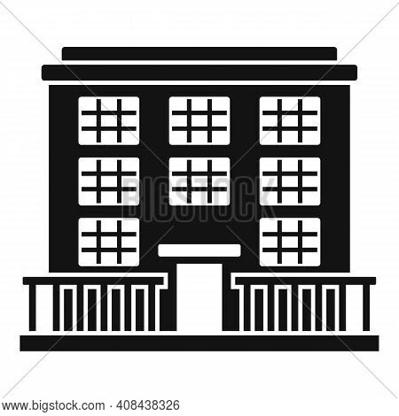 Prison Building Icon. Simple Illustration Of Prison Building Vector Icon For Web Design Isolated On