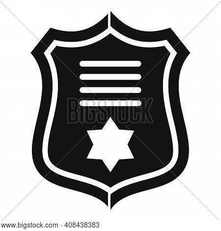 Prosecutor Gold Emblem Icon. Simple Illustration Of Prosecutor Gold Emblem Vector Icon For Web Desig