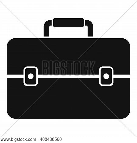 Briefcase Icon. Simple Illustration Of Briefcase Vector Icon For Web Design Isolated On White Backgr