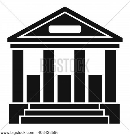 Judge Building Icon. Simple Illustration Of Judge Building Vector Icon For Web Design Isolated On Wh
