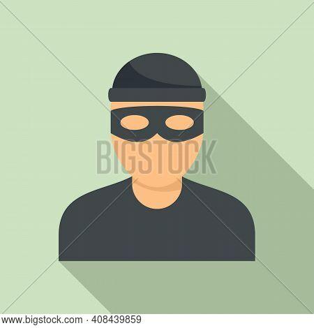 Bandit Icon. Flat Illustration Of Bandit Vector Icon For Web Design