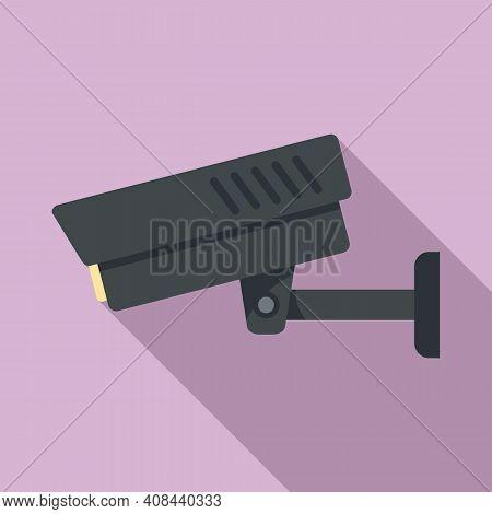 Prison Security Camera Icon. Flat Illustration Of Prison Security Camera Vector Icon For Web Design