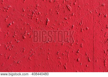 Red Painted Textured Concrete Cement Wall Background