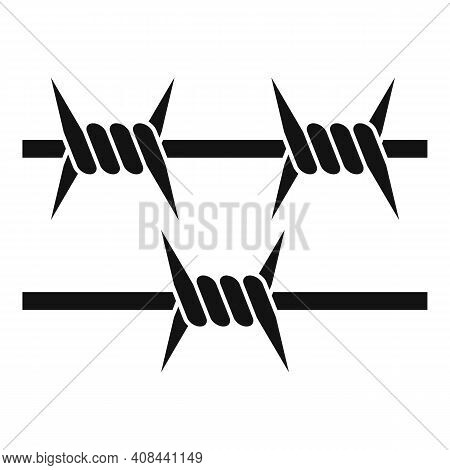Prison Spike Wire Icon. Simple Illustration Of Prison Spike Wire Vector Icon For Web Design Isolated