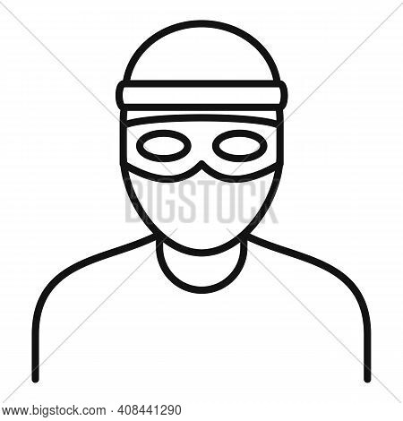 Bandit Icon. Outline Bandit Vector Icon For Web Design Isolated On White Background