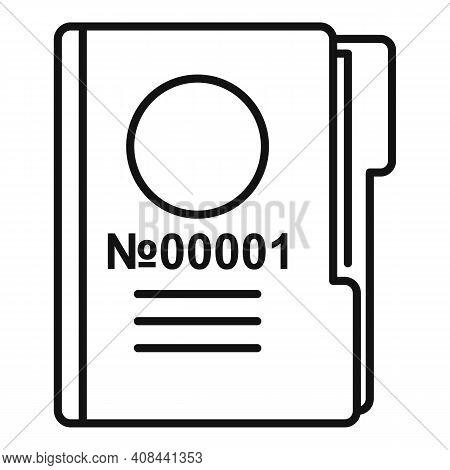 Prison Folder Icon. Outline Prison Folder Vector Icon For Web Design Isolated On White Background