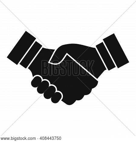 Notary Handshake Icon. Simple Illustration Of Notary Handshake Vector Icon For Web Design Isolated O