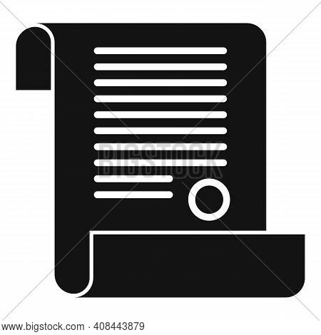 Notary Diploma Icon. Simple Illustration Of Notary Diploma Vector Icon For Web Design Isolated On Wh