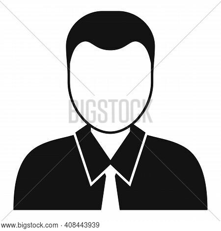 Notary Man Icon. Simple Illustration Of Notary Man Vector Icon For Web Design Isolated On White Back