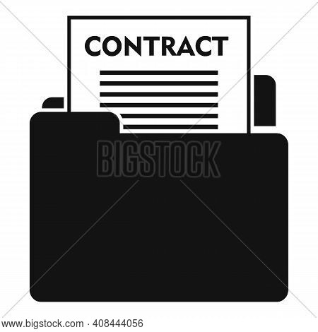 Notary Mail Contract Icon. Simple Illustration Of Notary Mail Contract Vector Icon For Web Design Is