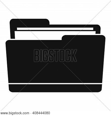 Notary Folder Icon. Simple Illustration Of Notary Folder Vector Icon For Web Design Isolated On Whit