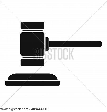 Notary Wood Gavel Icon. Simple Illustration Of Notary Wood Gavel Vector Icon For Web Design Isolated