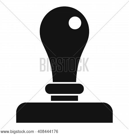 Notary Metal Stamp Icon. Simple Illustration Of Notary Metal Stamp Vector Icon For Web Design Isolat