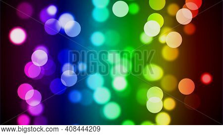 Bokeh Background, Led Lights Background, Led Bokeh Background. Abstract Background For Web Template.