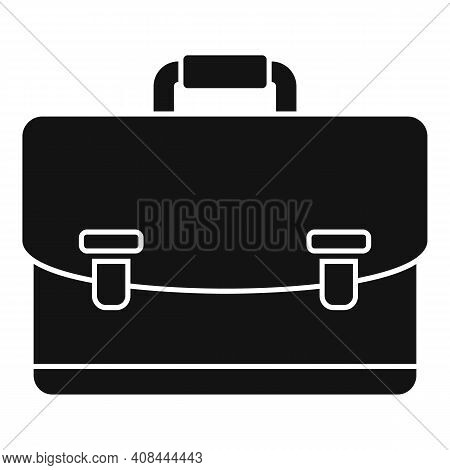 Notary Briefcase Icon. Simple Illustration Of Notary Briefcase Vector Icon For Web Design Isolated O
