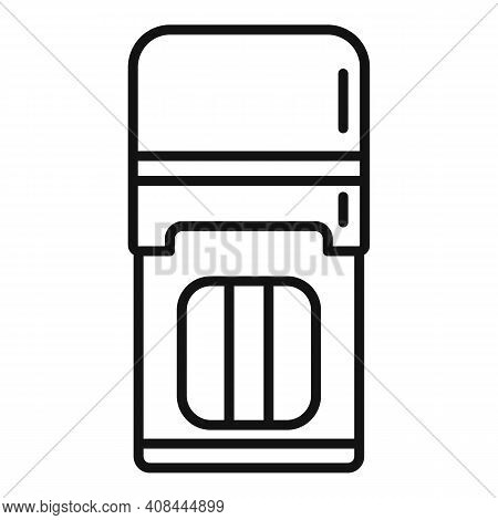 Notary Stamp Icon. Outline Notary Stamp Vector Icon For Web Design Isolated On White Background
