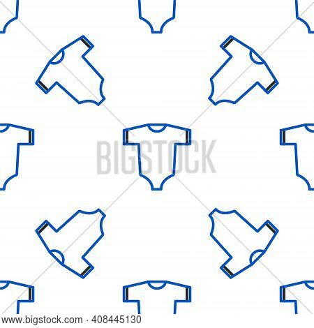 Line Baby Clothes Icon Isolated Seamless Pattern On White Background. Baby Clothing For Baby Girl An