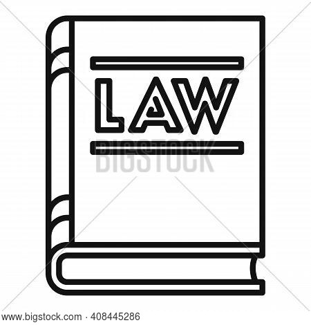 Notary Law Book Icon. Outline Notary Law Book Vector Icon For Web Design Isolated On White Backgroun