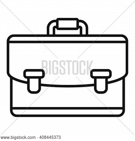 Notary Briefcase Icon. Outline Notary Briefcase Vector Icon For Web Design Isolated On White Backgro