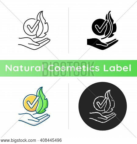 Hypoallergenic Cosmetics Icon. Products For Hypersensitive Skin. Professional Skincare. Natural Cosm