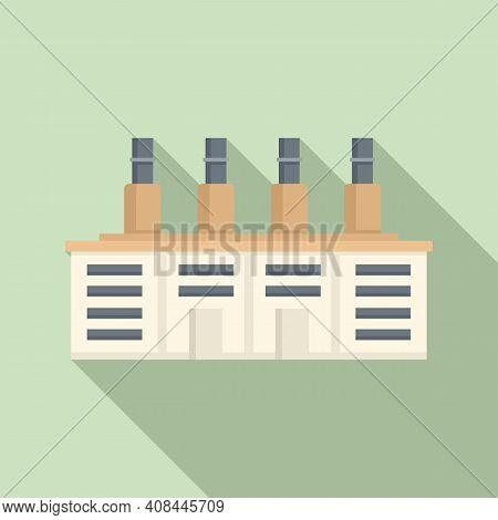 Environment Recycle Factory Icon. Flat Illustration Of Environment Recycle Factory Vector Icon For W