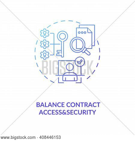 Balance Contract Access And Security Concept Icon. Efficient Contract Management Tips. Discussing Co