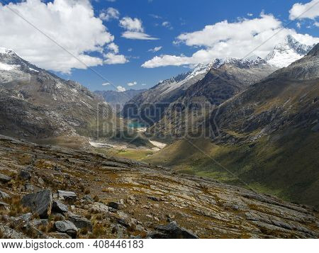 Cordillera Blanca Trail Huayhuash, Overnight Camping With Beautiful View